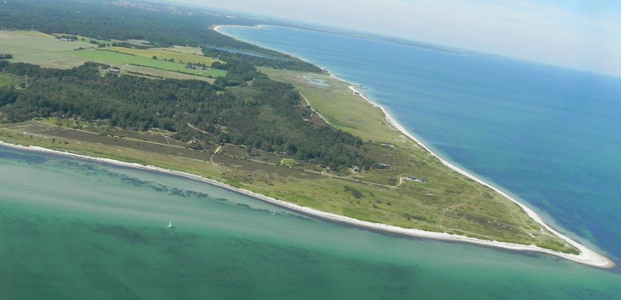 Luftfoto af spidsen